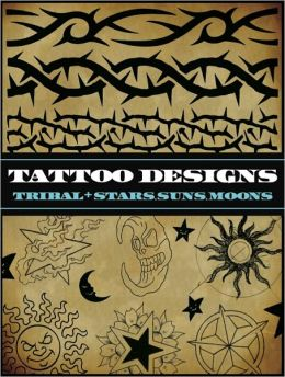 Tattoo Designs: Tribal and Stars, Suns, Moons