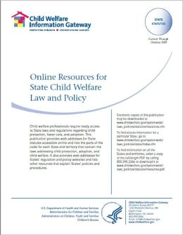 Online Resources for State Child Welfare Law and Policy