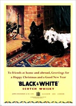 6 BLACK AND WHITE WHISKY VINTAGE ADS!