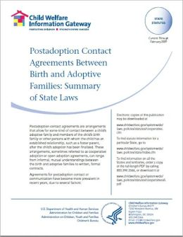 Postadoption Contact Agreements Between Birth and Adoptive Families: Summary of State Laws