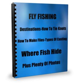 FLY FISHING Learn To Angle Like The Pros Destinations-How To Tie Knots-How To Make Flies-Types Of Casting-Where Fish Hid-Plus Plenty Of Photos