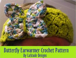 Butterfly Earwarmers Headband Crochet Pattern