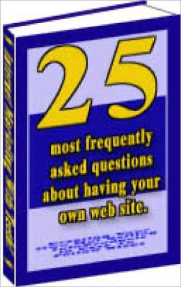 25 Most Frequently asked questions on being a web master