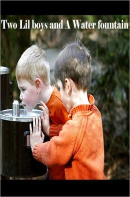 Two Lil Boys and A Water Fountain