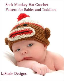 Baby Sock Monkey Beanie Hat Crochet Pattern