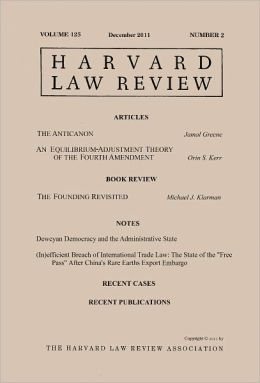 Harvard Law Review: Volume 125, Number 2 - December 2011