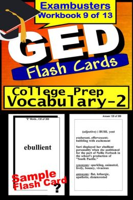 GED Study Guide College Prep Vocabulary--GED Flashcards--GED Prep Workbook 9 of 13