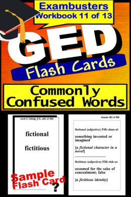GED Study Guide Words Commonly Confused--GED Vocabulary Flashcards--GED Prep Workbook 11 of 13