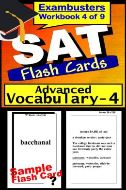 SAT Study Guide Advanced Vocabulary--SAT Flashcards--SAT Prep Workbook 4 of 9