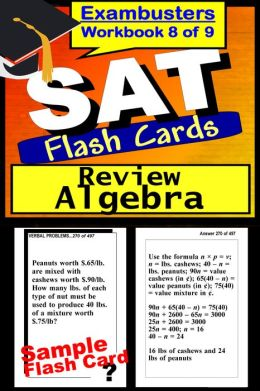 SAT Study Guide Algebra Review--SAT Math Flashcards--SAT Prep Workbook 8 of 9