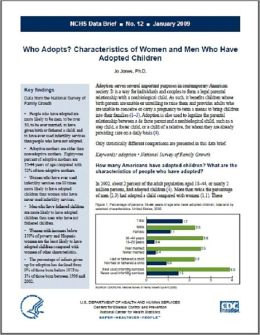 Who Adopts? Characteristics of Women and Men Who Have Adopted Children