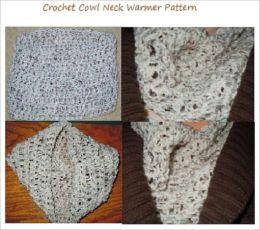 Crochet a Cowl Neck Warmer Pattern - Chunky Cowl Neck Crochet Pattern
