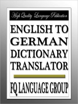 English to German Dictionary Translator