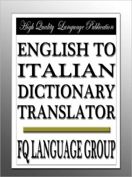 English to Italian Dictionary Translator