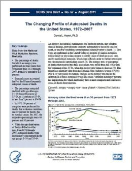 The Changing Profile of Autopsied Deaths in the United States, 1972–2007