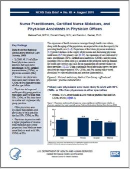 Nurse Practitioners, Certified Nurse Midwives, and Physician Assistants in Physician Offices