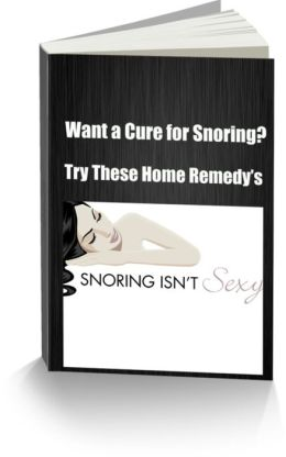 Want a Cure for Snoring? Try These Home Remedy's