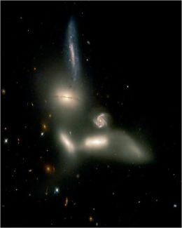 Hubble Watches Galaxies Engage in Dance of Destruction