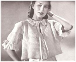 PATTERN #0101 JENNY BEDJACKET VINTAGE KNITTING