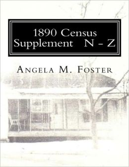 1890 Census Supplement N - Z