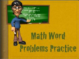 Math Word Problem Practice - based on Common Core