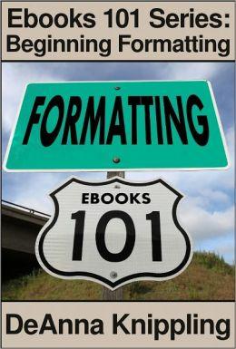 Ebooks 101: Beginning formatting