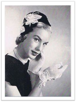 PATTERN #1794 HAT AND GLOVES VINTAGE CROCHET