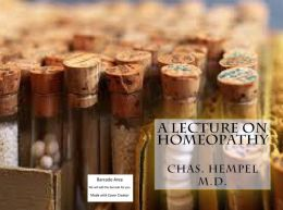A Lecture on Homeopathy(Annotated)