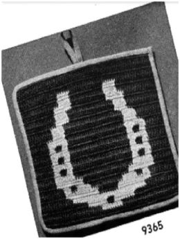 PATTERN #0490 LUCKY HORSESHOE VINTAGE CROCHET