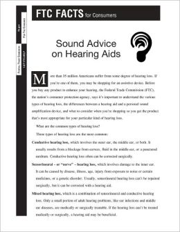 Sound Advice on Hearing Aids: FTC FACTS for Consumers