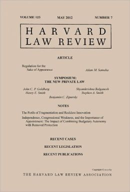 Harvard Law Review: Volume 125, Number 7 - May 2012