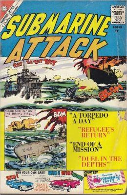 Submarine Attack Number 24 War Comic Book