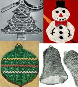 8 Christmas Potholders for Crochet