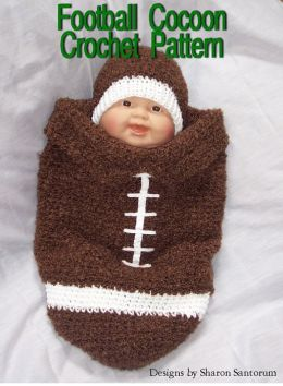 Football Cocoon Crochet Pattern