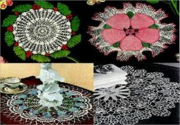 Flowers and Fruit Crocheted Doilies Part Two