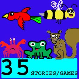 35 STORIES/FREE FUN GAMES (Children's Picture Books) Great for Beginner Readers and Bedtime Stories