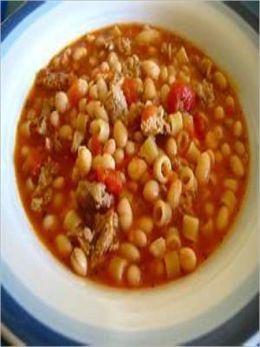 Olive Garden's PASTA FAGIOLI Recipe ~ Italian SOUP (Beef ~ veggies ~ pasta)
