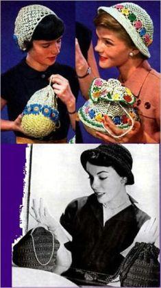 4 Bolso de ganchillo y Crochet Hat patrones de coincidencia