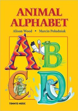 Animal Alphabet. ABC book for kids: Find the letter in the text