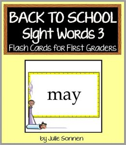 Back to School Sight Words 3 - Flash Cards for First Graders