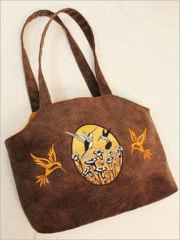 Faux Suede Embroidery Tote make one of your own!