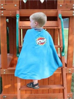 Kids' Superhero Cape instructions to cloak your favorite defender of justice with his or her own superhero cape!