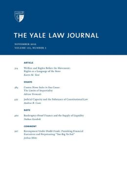 Yale Law Journal: Volume 122, Number 2 - November 2012