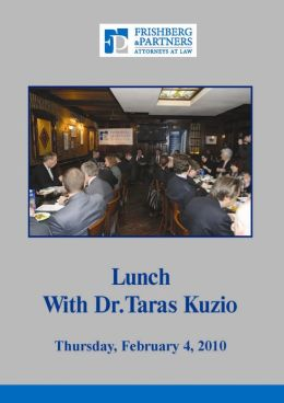 Lunch with Dr. Taras Kuzio