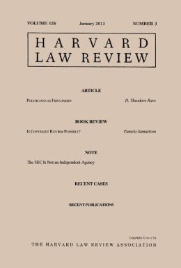 Harvard Law Review: Volume 126, Number 3 - January 2013