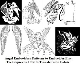 Angel Embroidery Patterns to Embroider Plus Techniques on How to Transfer onto Fabric