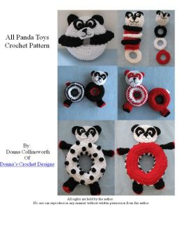 Panda Themed Toys For Baby Crochet Pattern