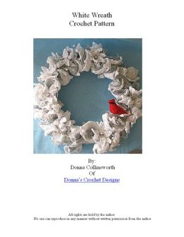White & Silver Wreath Crochet Pattern