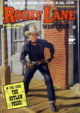 Rocky Lane Number 15 Western Comic Book