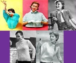 Beautiful Vintage Knitting Patterns for Women's Sweaters
